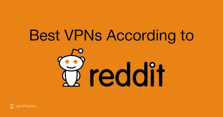image with the Reddit logo presenting the best VPNs