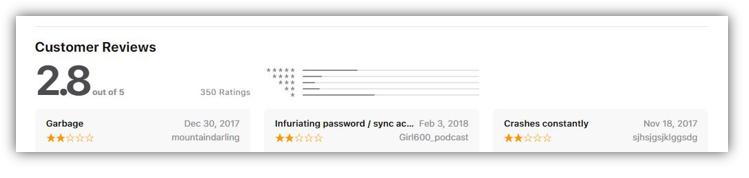 Opera Mini Browser iTunes Rating